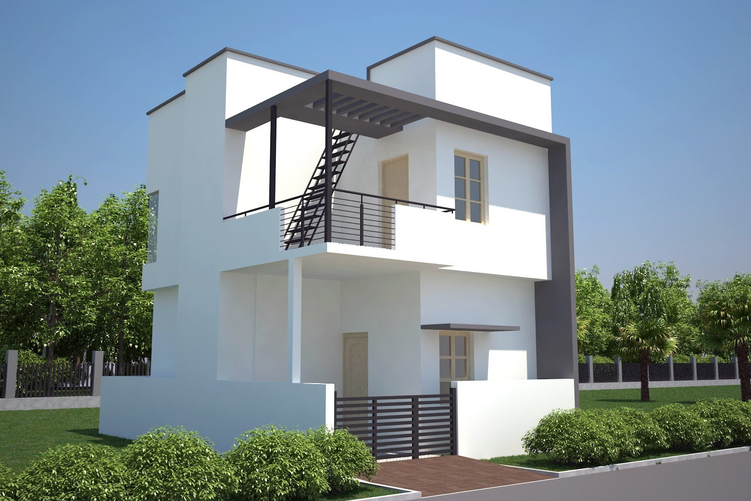 30 Feet Front Elevation : Ongoing residential villas dattagalli mysore one