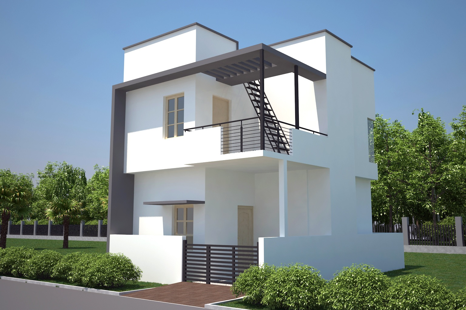 South Facing Home Front Elevation : Premium villas vijayanagar th stage mysore one