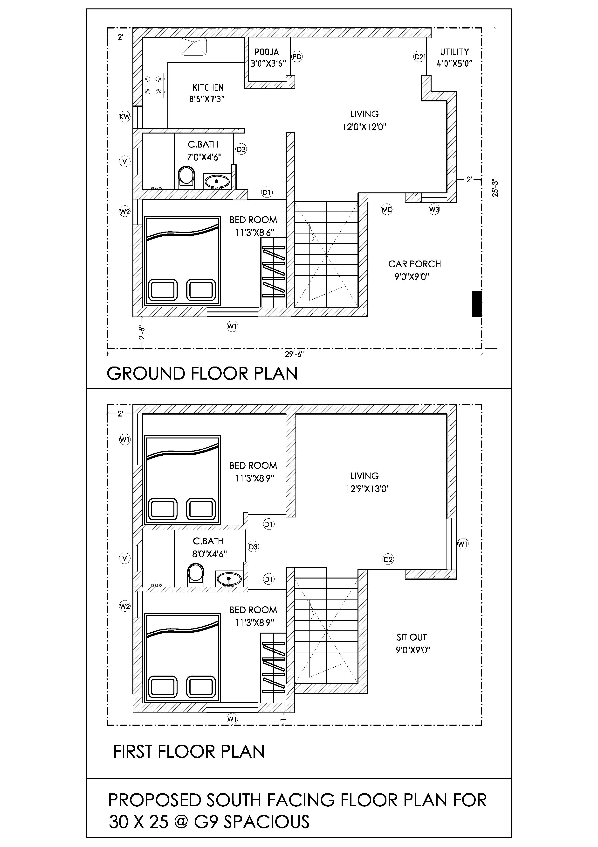 House Plans 30 Feet By X60 House Plan Decorchamp