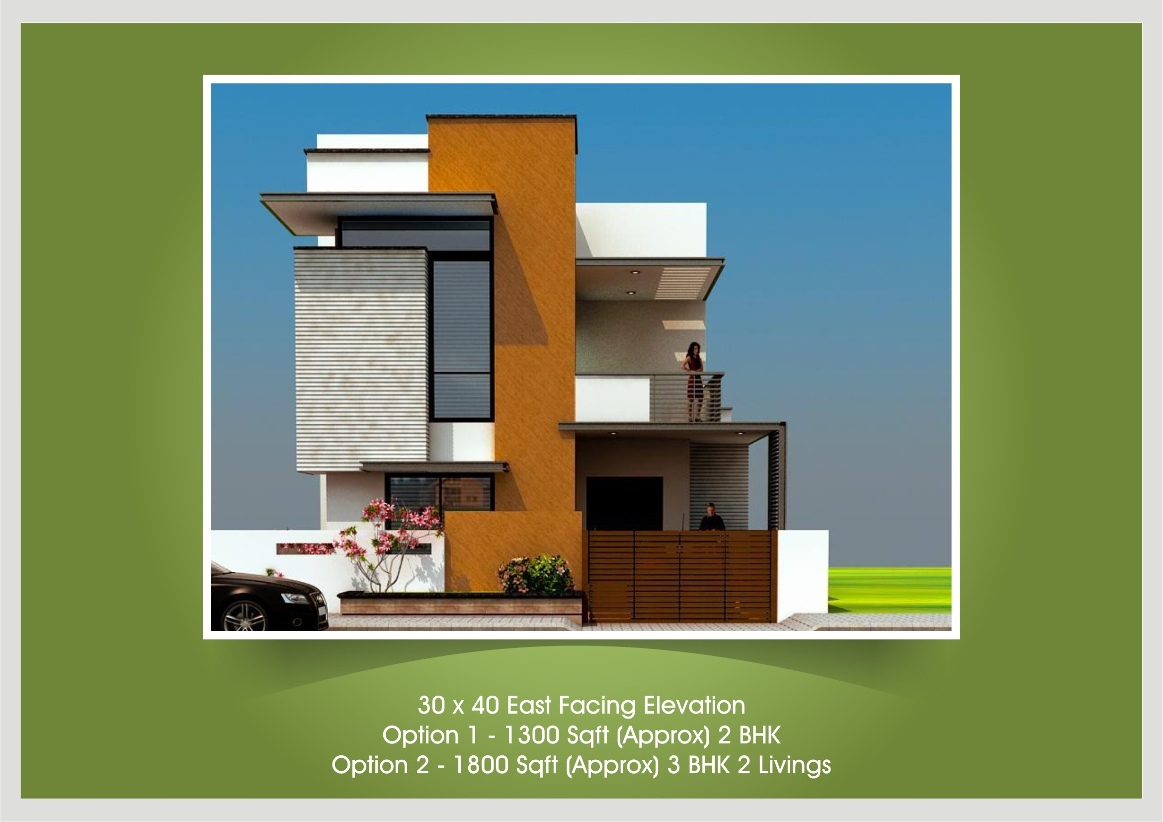 Awesome 30x40 House Plan And Elevation Contemporary Best