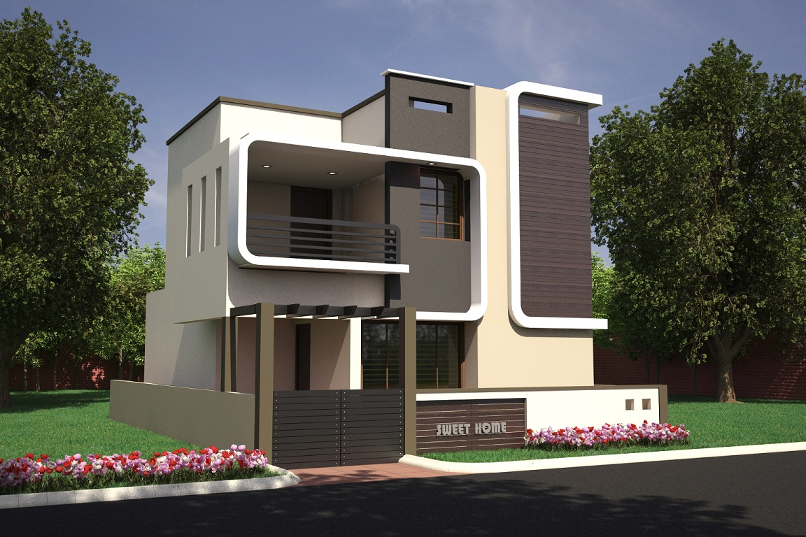 2 3 bhk residential villas dattagalli mysore one for Single floor house elevation designs