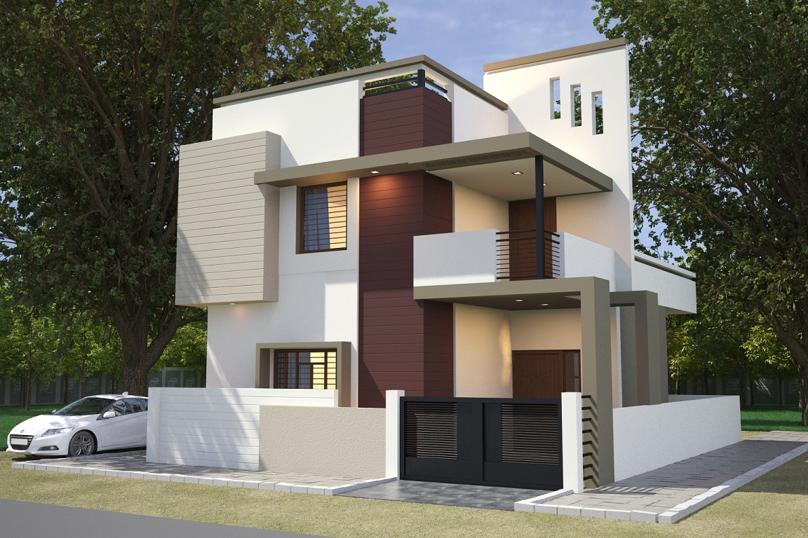 South Facing Ground Floor Elevation : Bhk residential villas dattagalli mysore one