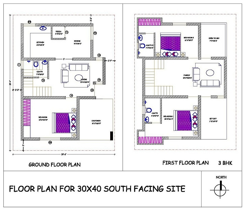 40x60 house floor plans architectural designs for House plan for 20x40 site