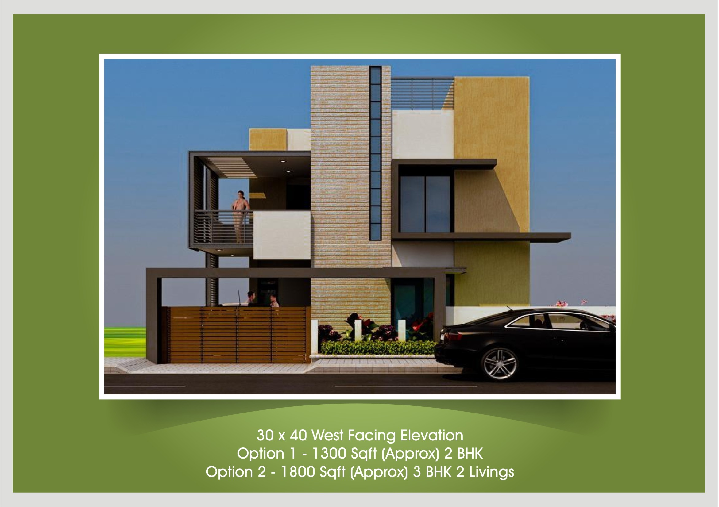 Front Elevation Design For 3bhk : Bhk home plans and elevation