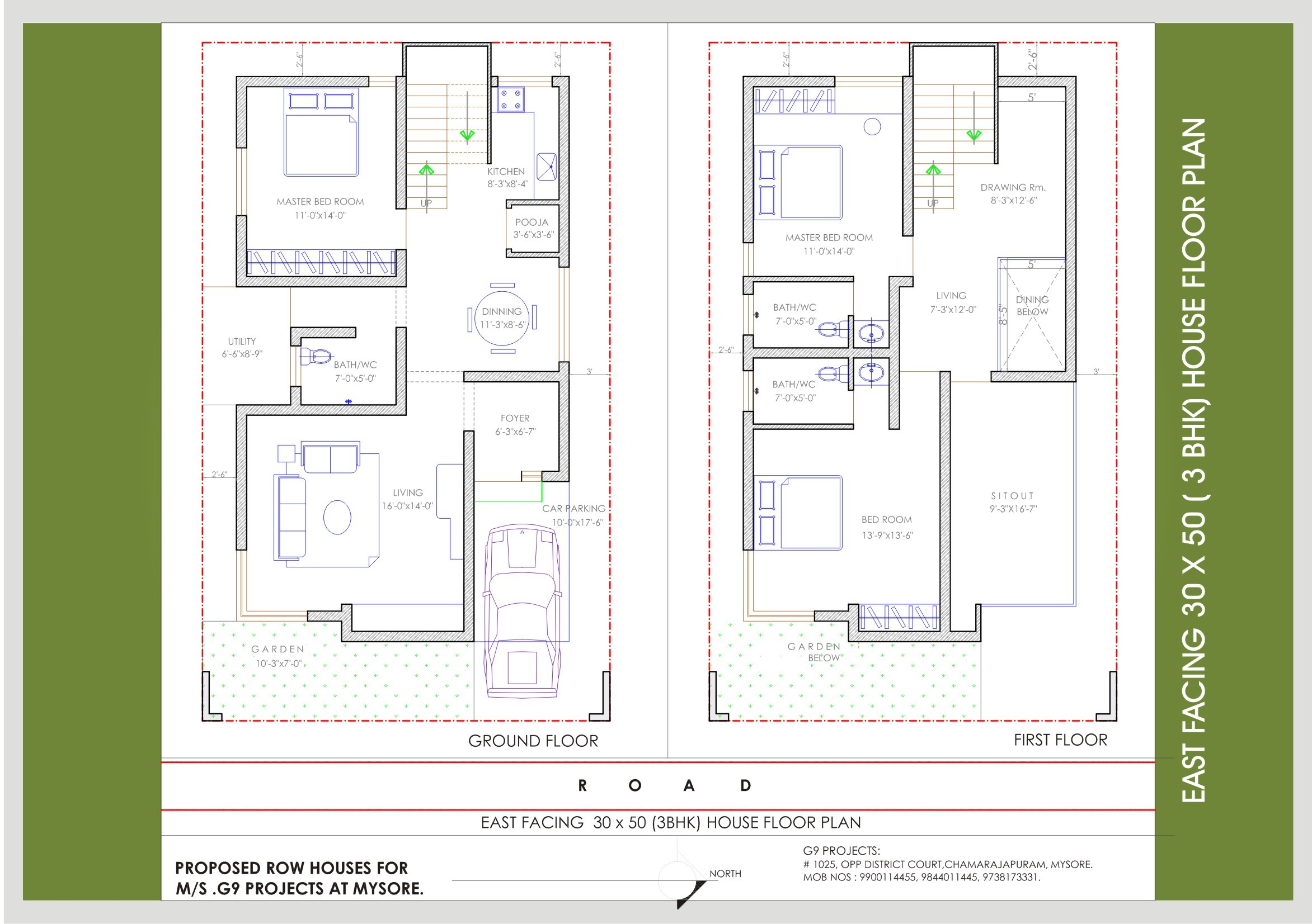 2 Story Villa Floor Plans Upcoming Residential Villas Beml Mysore One
