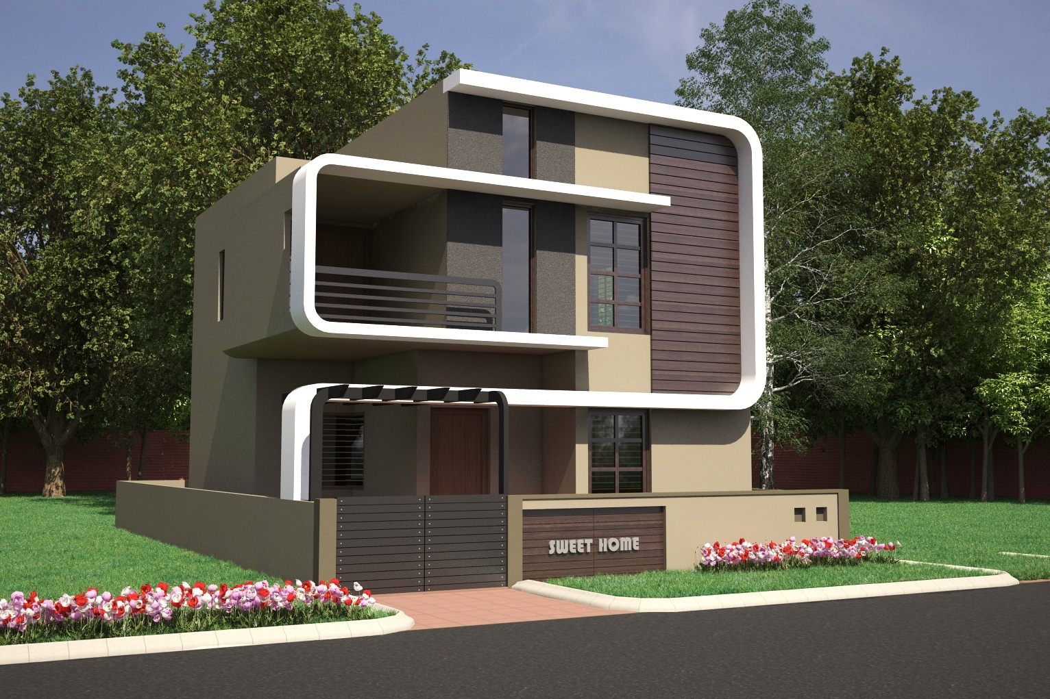 Front Elevation Designs For West Facing House : Bhk residential villas dattagalli mysore one