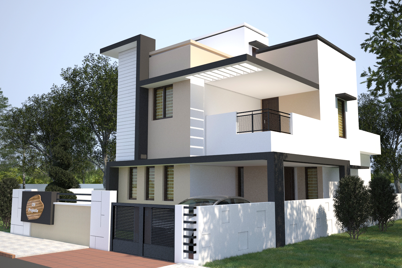 Front Elevation Designs For Small Houses In Bangalore : Ongoing residential villas dattagalli mysore one