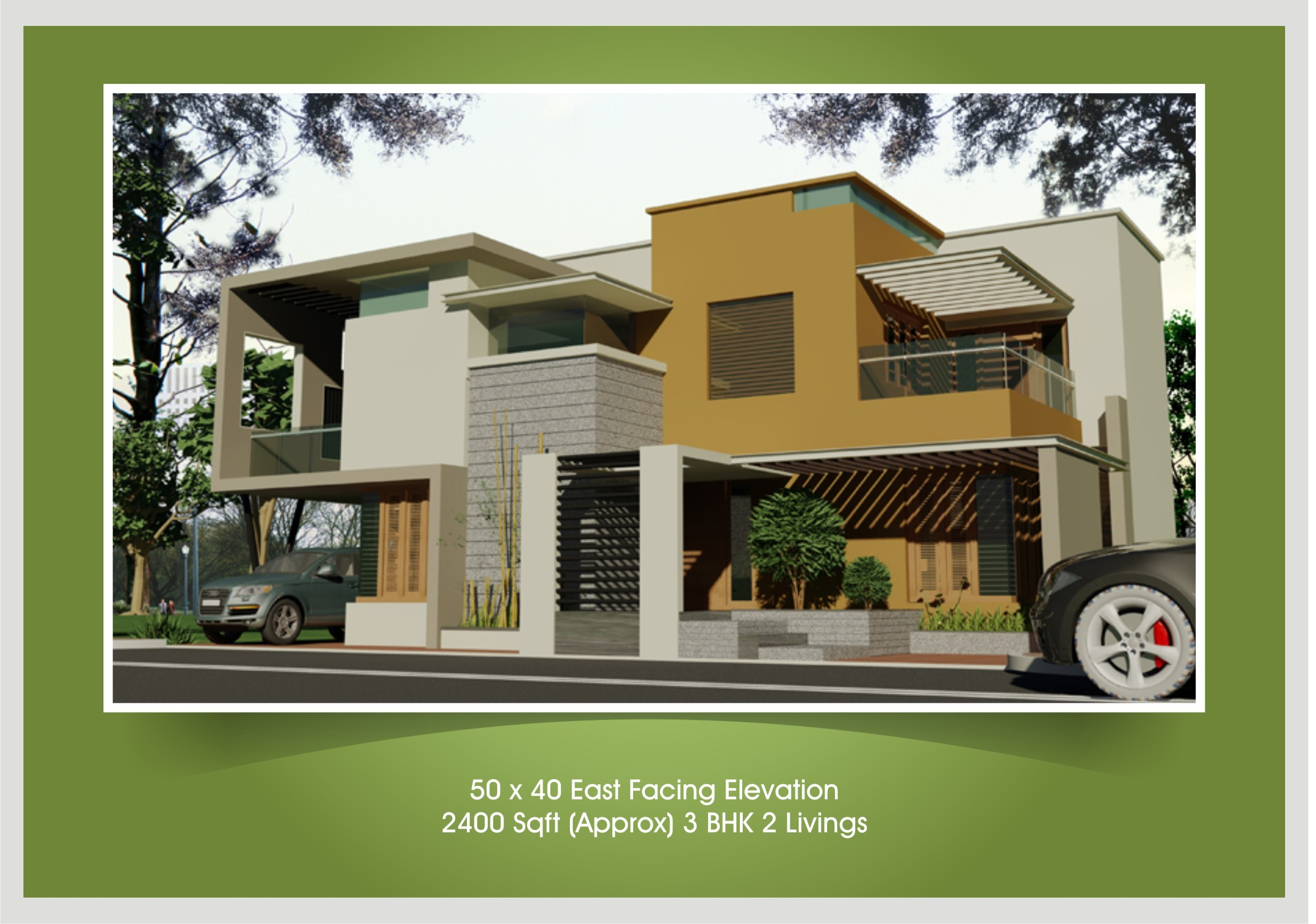 Single Floor East Facing Elevation : Upcoming residential villas beml mysore one