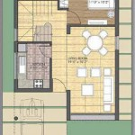 Unitech Palace Court Ground Floor Plan 4BHK 2,114 Sq Ft